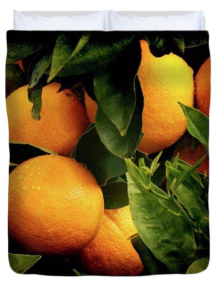 Oranges Duvet Cover by Ernie Echols