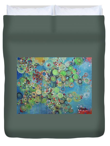 Orangetheory Brighter Than The Sun Duvet Cover by Laurie Maves ART