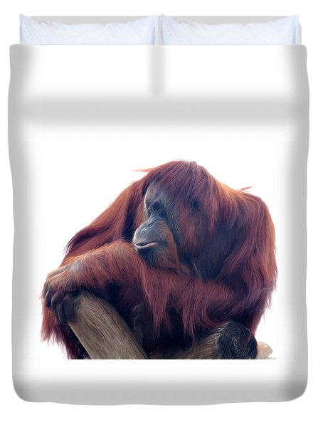 Orangutan - Color Version Duvet Cover