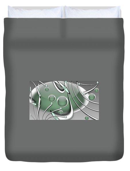 Orb Wars Duvet Cover