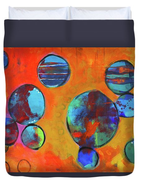 Orbita Duvet Cover by Nancy Merkle