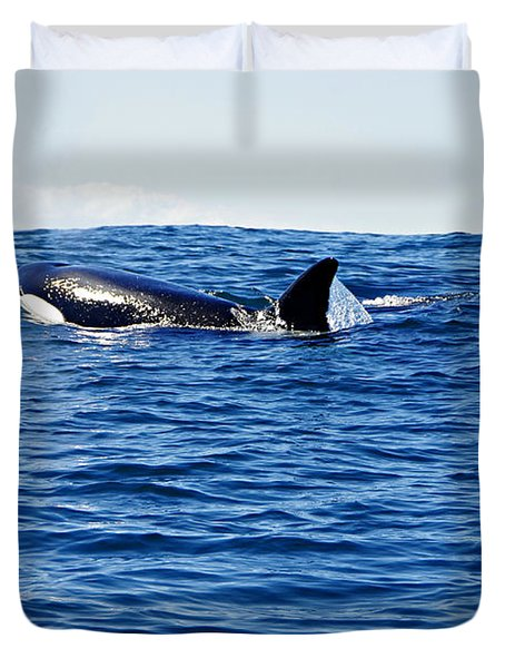 Orca Duvet Cover by Marilyn Wilson
