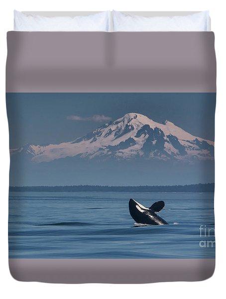Orca - Mt. Baker Duvet Cover