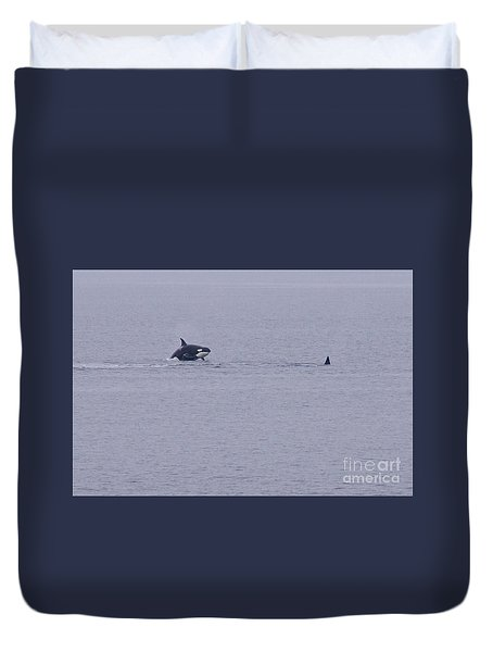 Orca Duvet Cover by Sean Griffin