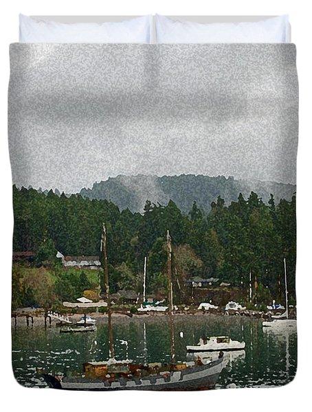 Orcas Island Digital Enhancement Duvet Cover