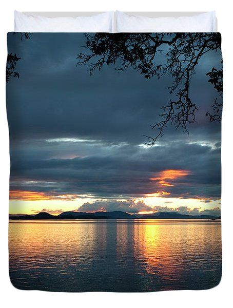 Orcas Island Sunset Duvet Cover