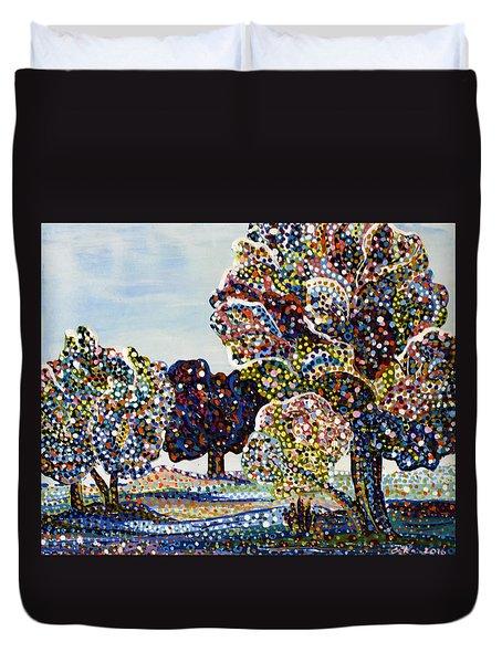 Orchard Duvet Cover by Erika Pochybova