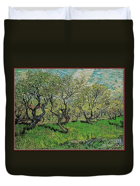 Orchard In Blossom Duvet Cover by Pemaro