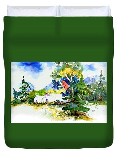 Orchard Springs Bear Duvet Cover