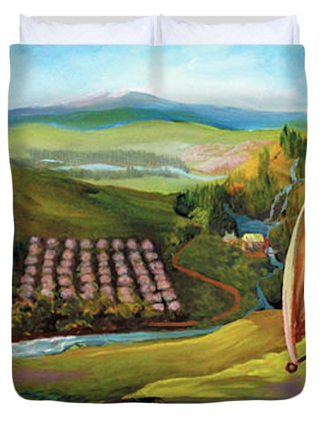 Orchard Valley Duvet Cover