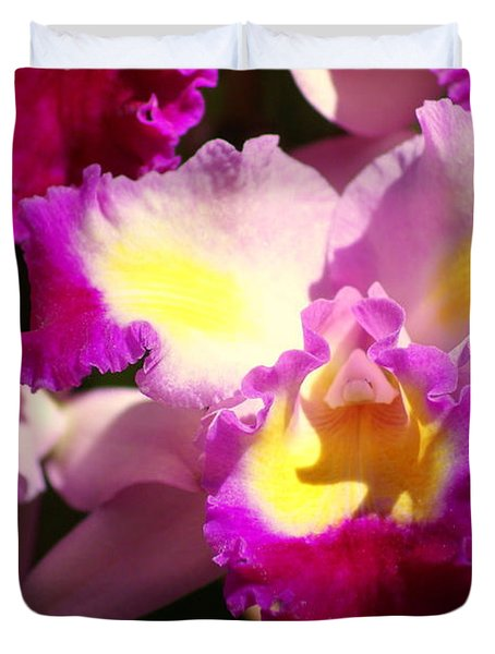 Orchid 1 Duvet Cover by Marty Koch