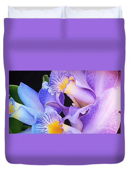 Orchid Bouquet Duvet Cover by Cindy Manero