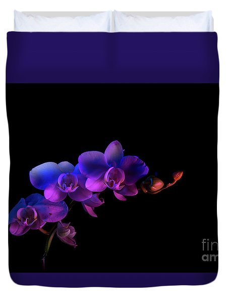 Duvet Cover featuring the photograph Orchid by Brian Jones
