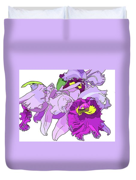 Orchid Cluster Duvet Cover