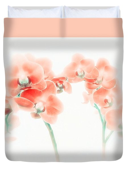 Orchid Collection 'soft Red' Duvet Cover