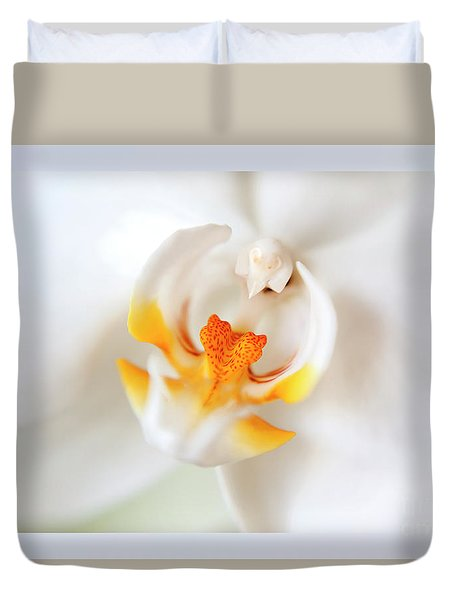 Duvet Cover featuring the photograph Orchid Detail by Ariadna De Raadt