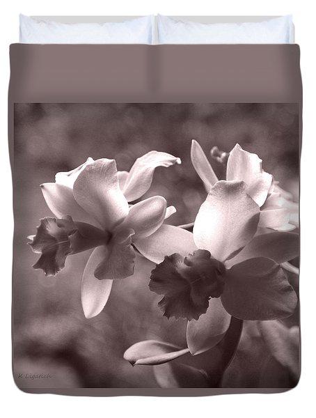Orchid Dream - Square Duvet Cover by Kerri Ligatich