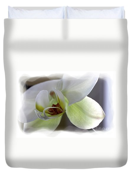 Orchid For Valentines Day Duvet Cover