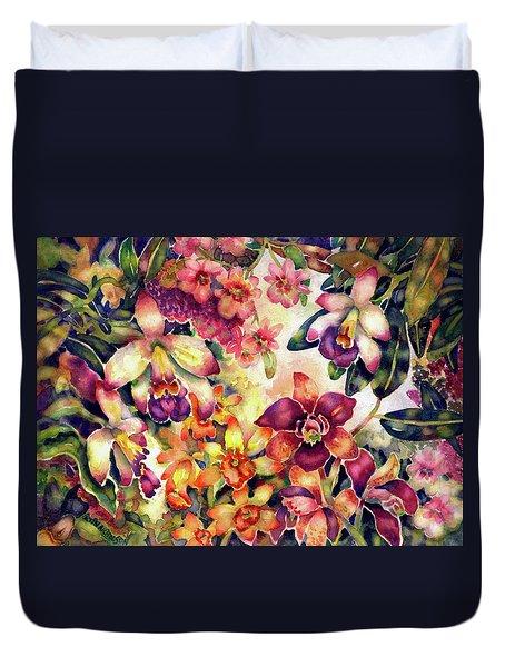 Orchid Garden II Duvet Cover