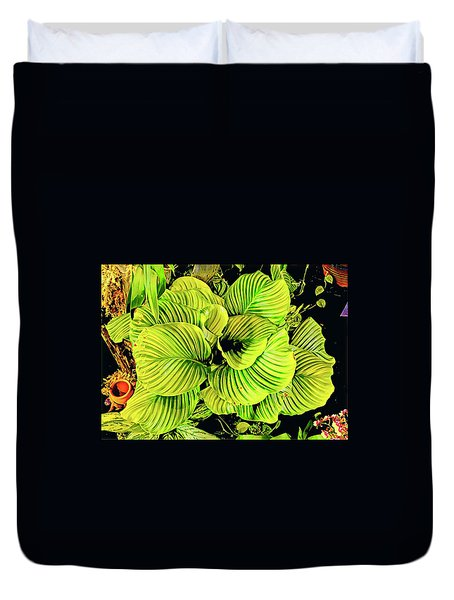 Orchid Green Fade Aloha  Duvet Cover
