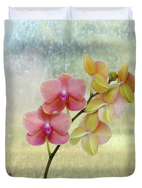 Orchid In Portrait Duvet Cover