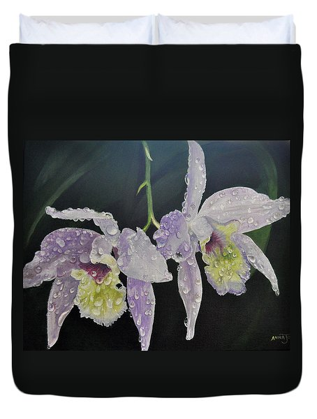 Orchid Jewels Duvet Cover