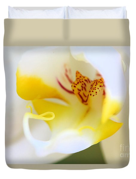 Orchid Macro Duvet Cover by Jared Shomo