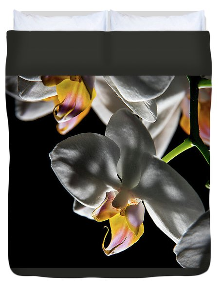 Orchid On Fire Duvet Cover