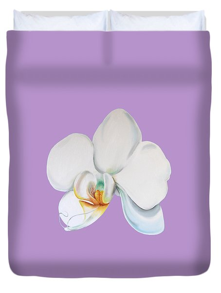 Orchid On Lilac Duvet Cover