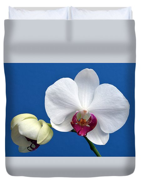 Orchid Out Of The Blue. Duvet Cover