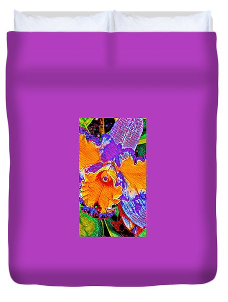 Orchid Psychedelic Duvet Cover
