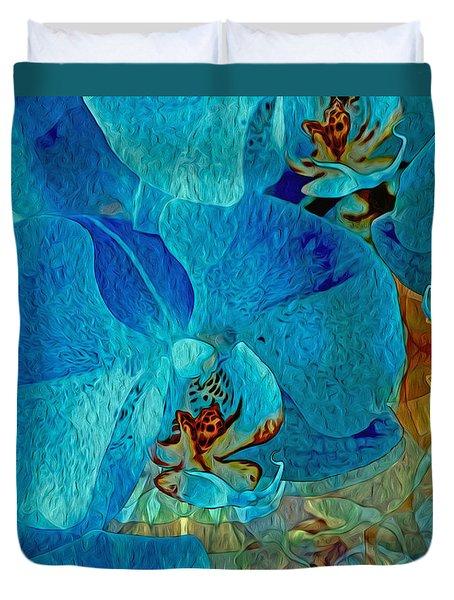 Orchid Reverie 10 Duvet Cover by Lynda Lehmann