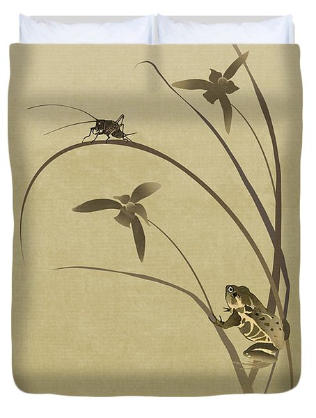 Orchid Sonata Duvet Cover