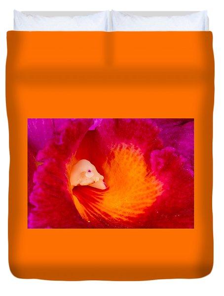 Orchid Vortex 458 Duvet Cover