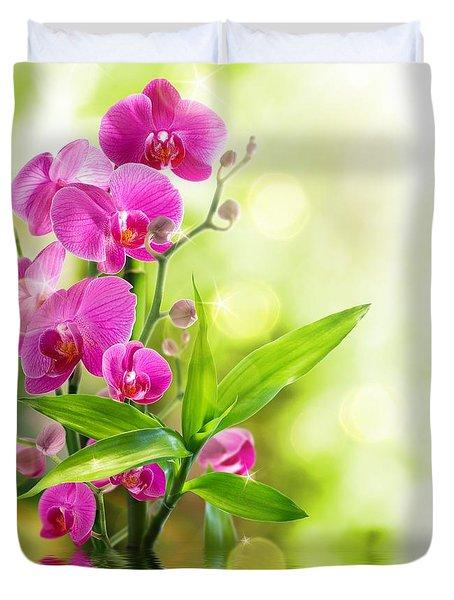 Orchidaceae Duvet Cover