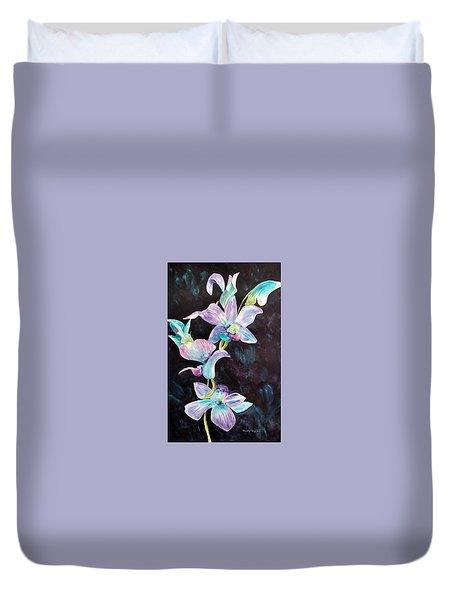 Orchids Alive Duvet Cover