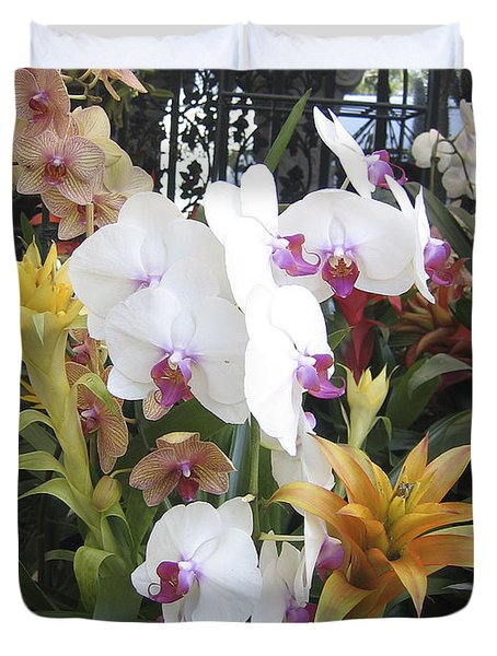 Orchids And Iron Duvet Cover