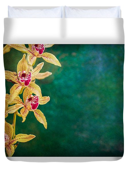 Orchids Duvet Cover by Elena E Giorgi