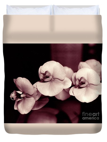 Duvet Cover featuring the photograph Orchids Hawaii by Mukta Gupta