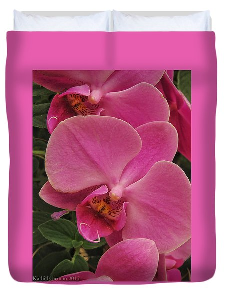 Orchids I Duvet Cover