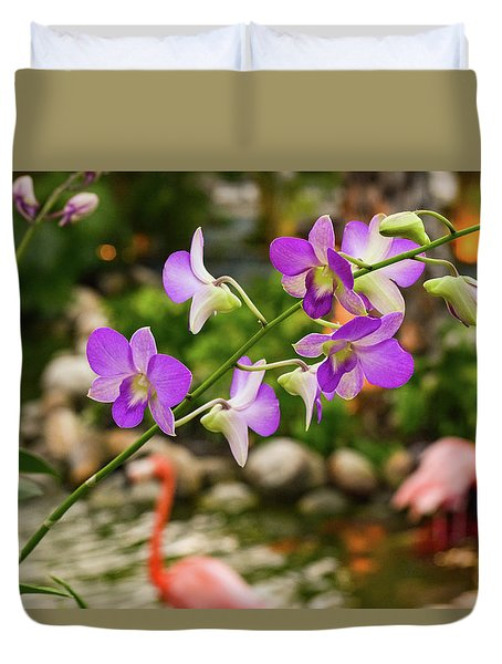 Orchids In Paradise Duvet Cover