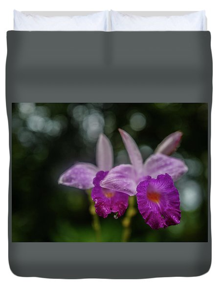 Orchids Love The Rain Duvet Cover