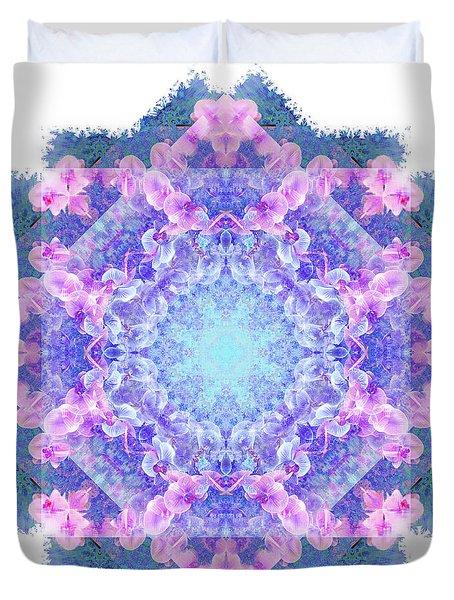 Orchids Mandala Duvet Cover