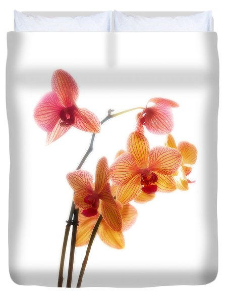 Orchids Duvet Cover by Mark Alder