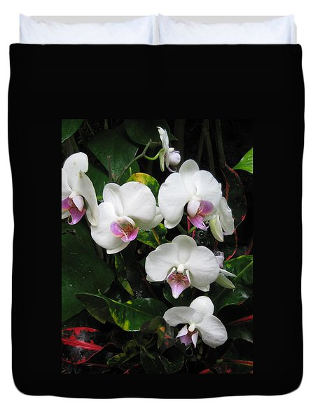 Orchids On My Mind Duvet Cover