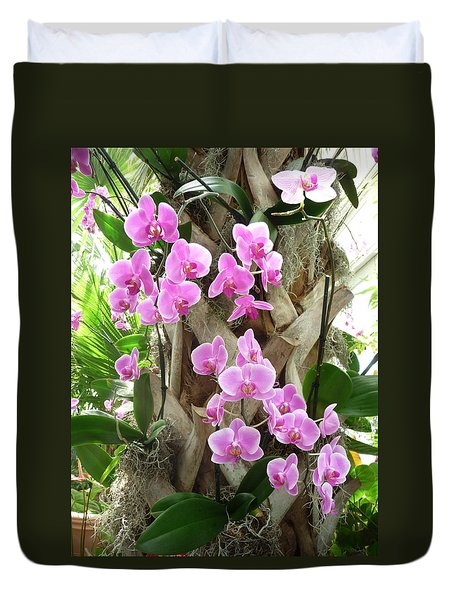 Orchids On Parade Duvet Cover