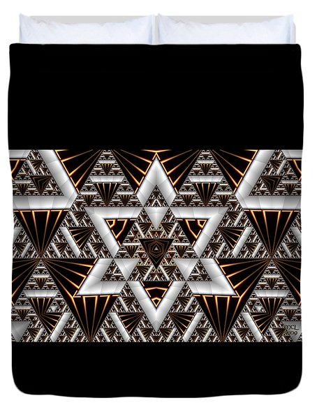 Order And Chaos Duvet Cover by Manny Lorenzo