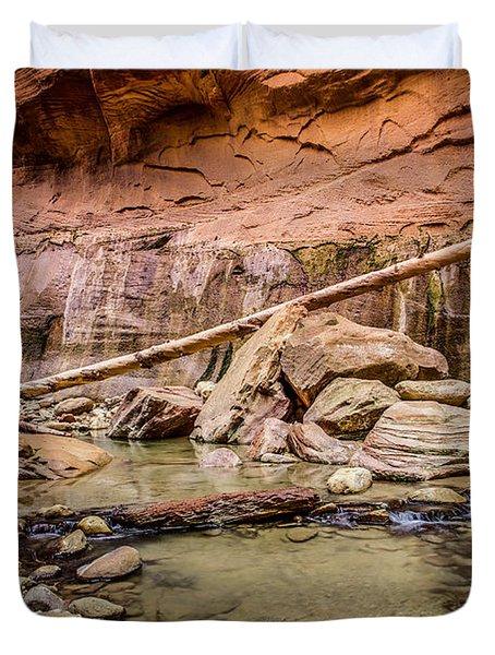 Orderville Canyon Zion National Park Duvet Cover