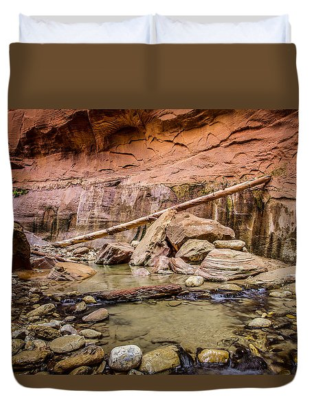 Orderville Canyon Zion National Park Duvet Cover