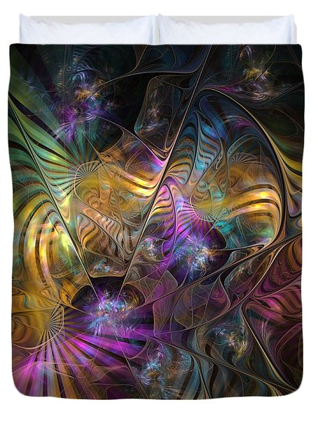 Duvet Cover featuring the digital art Ordinary Instances by NirvanaBlues